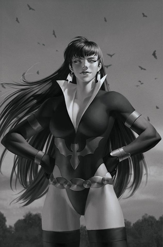 Vampirella: The Dark Powers #3 (45 Copy Yoon B&W Virgin Cover)