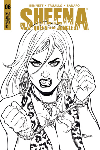 Sheena #6 (10 Copy Sanapo B&W Cover)