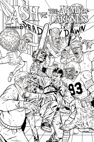 Ash vs. The Army of Darkness #3 (20 Copy Schoonover B&W Cover)