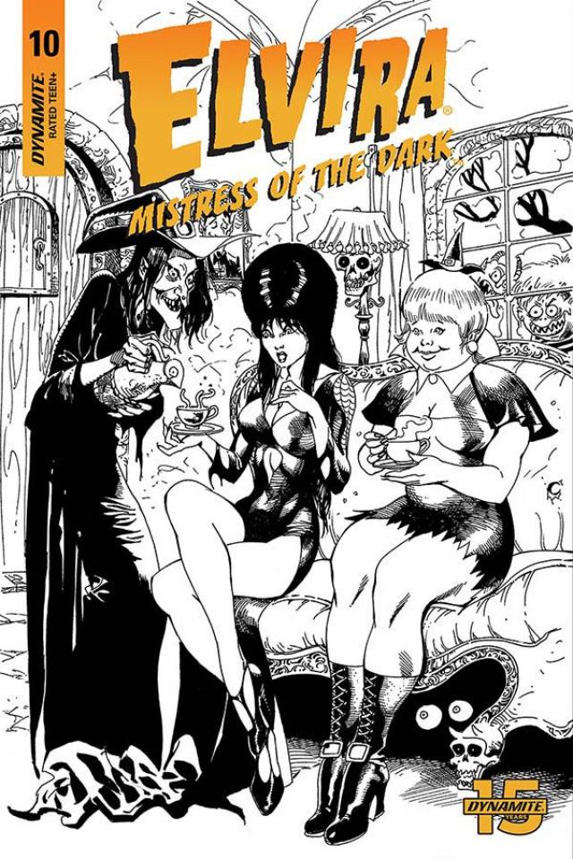Elvira: Mistress of the Dark #10 (11 Copy Castro B&W Foc Cover)