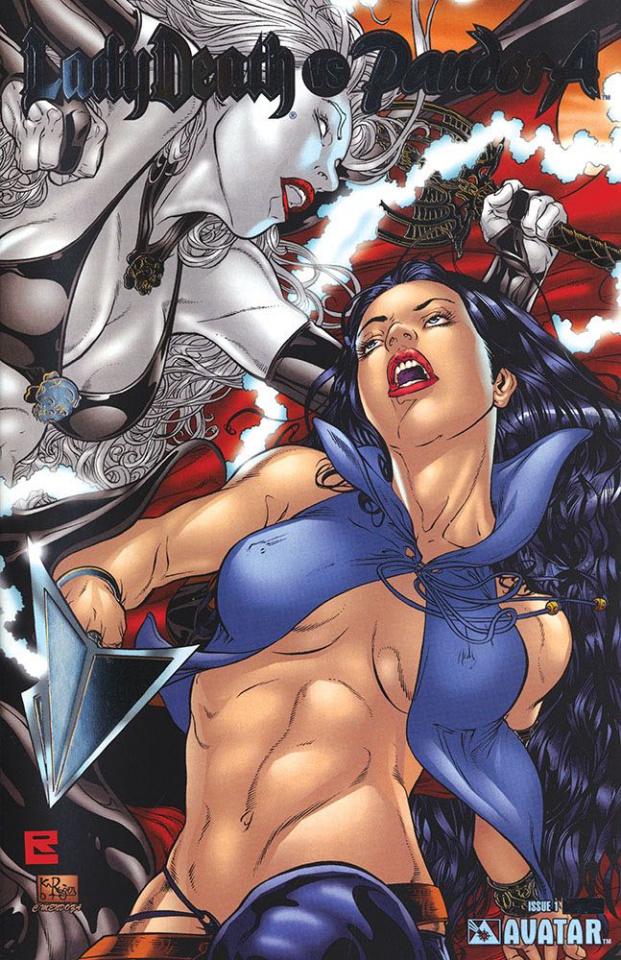 Lady Death vs. Pandora (Platinum Foil Cover)