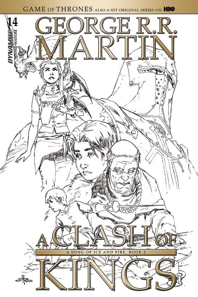 A Game of Thrones: A Clash of Kings #14 (15 Copy Rubi B&W Cover)