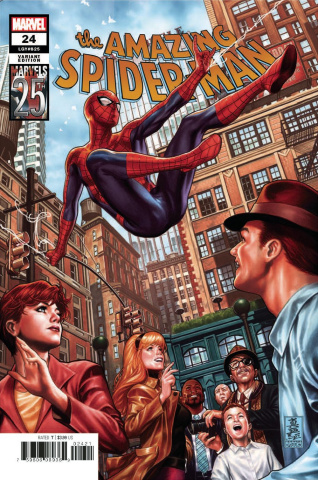 The Amazing Spider-Man #24 (Brooks Marvels 25th Anniversary Tribute Cover)