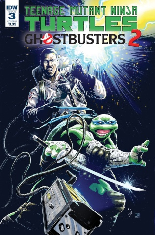 Teenage Mutant Ninja Turtles / Ghostbusters 2 #3 (Galusha Cover)