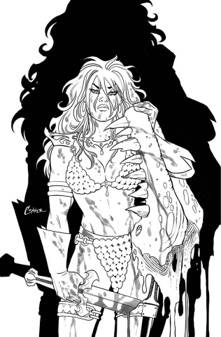 The Invincible Red Sonja #2 (40 Copy Conner Line Art Virgin Cover)
