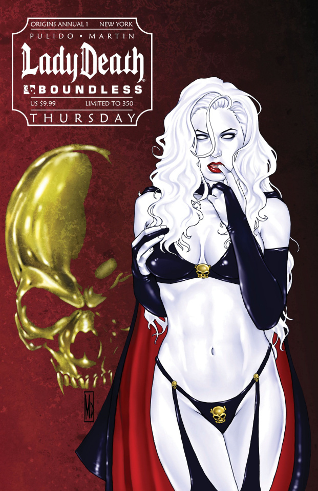 Lady Death Origins Annual #1 (New York Thursday Cover)