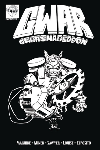 GWAR: Orgasmageddon #1 (Coloring Book Cover)