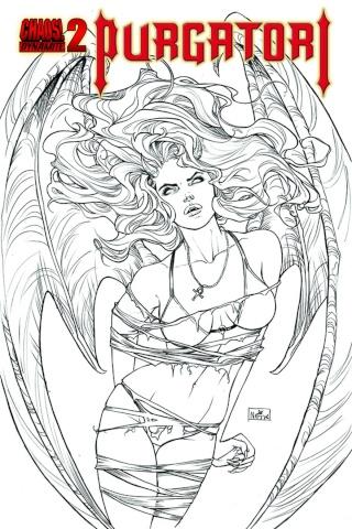 Purgatori #2 (10 Copy Ruffino B&W Cover)