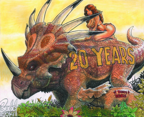 Cavewoman 20th Anniversary Full Color Showbook