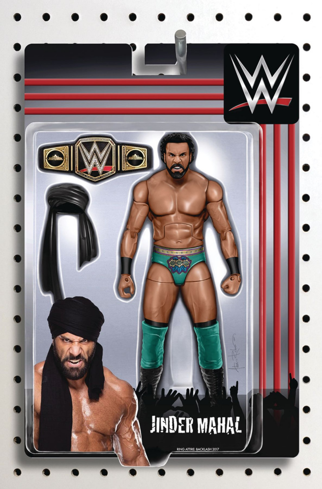 WWE #14 (Riches Action Figure Cover)