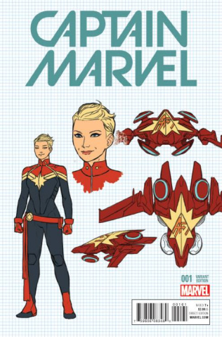 Captain Marvel #1 (Anka Design Cover)