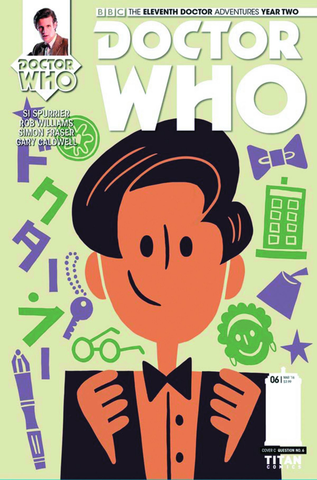 Doctor Who: New Adventures with the Eleventh Doctor, Year Two #6 (Question 6 Cover)