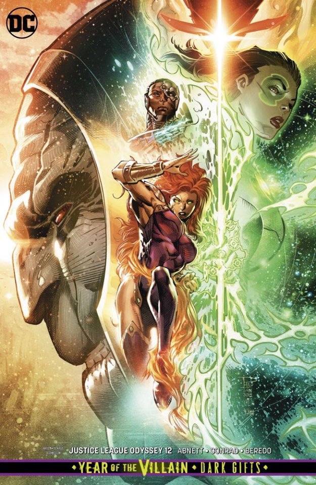 Justice League: Odyssey #12 (Card Stock Dark Gifts Cover)
