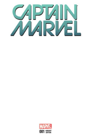 Captain Marvel #1 (Blank Cover)