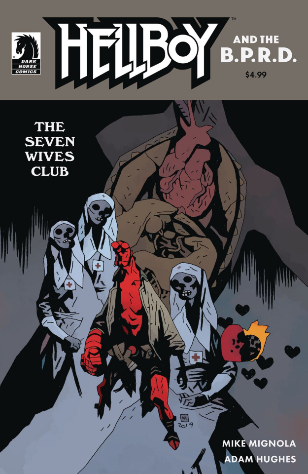 Hellboy and the B.P.R.D.: The Seven Wives Club (Mignola Cover)