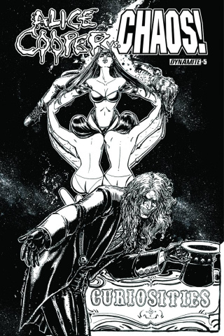 Alice Cooper vs. Chaos! #5 (15 Copy B&W Cover)