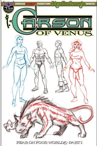 Carson of Venus: Fear on Four Worlds #1 (Special Character Cover)