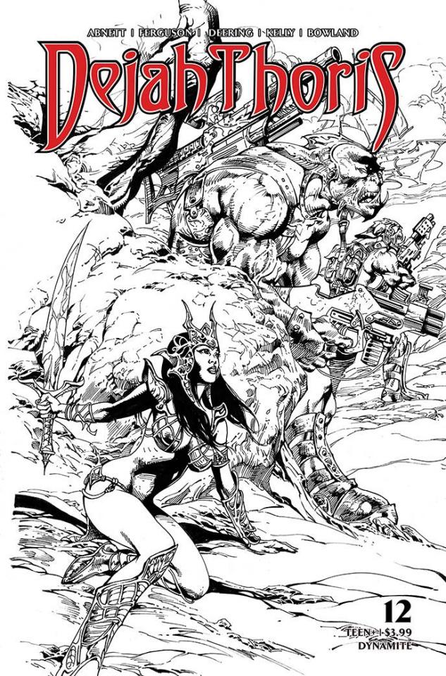 Dejah Thoris #12 (7 Copy Castro B&W Cover)