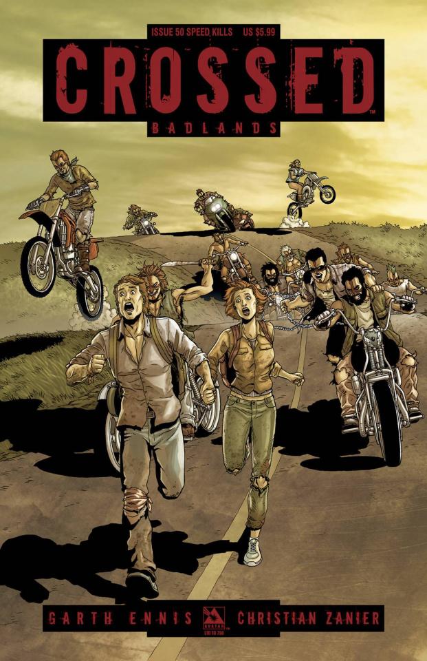 Crossed: Badlands #50 (Speed Kills Cover)