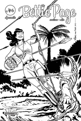 Bettie Page: Unbound #6 (11 Copy Williams B&W Cover)