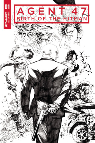 Agent 47: Birth of the Hitman #1 (10 Copy Lau B&W Cover)