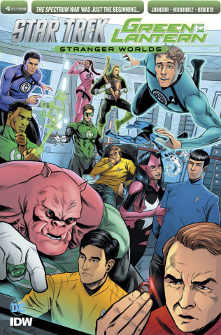 Star Trek / Green Lantern #4 (Subscription Cover)