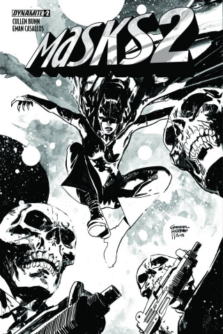 Masks 2 #2 (30 Copy Hardman B&W Cover)