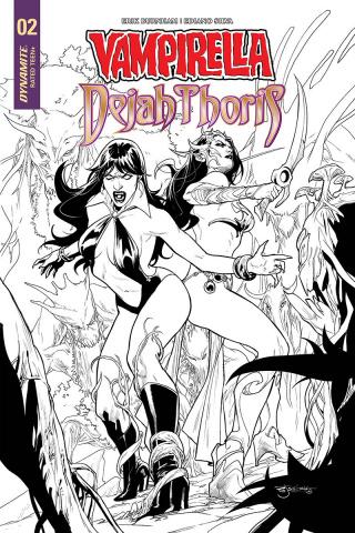 Vampirella / Dejah Thoris #2 (25 Copy Segovia B&W Cover)