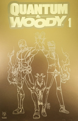 Quantum & Woody #1 (100 Copy Fools Gold Cover)