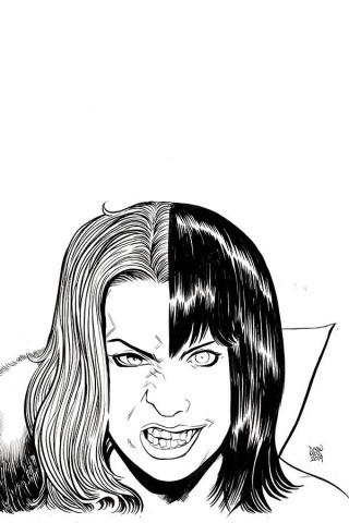 Vampirella / Red Sonja #7 (11 Copy Moss B&W Virgin Cover)
