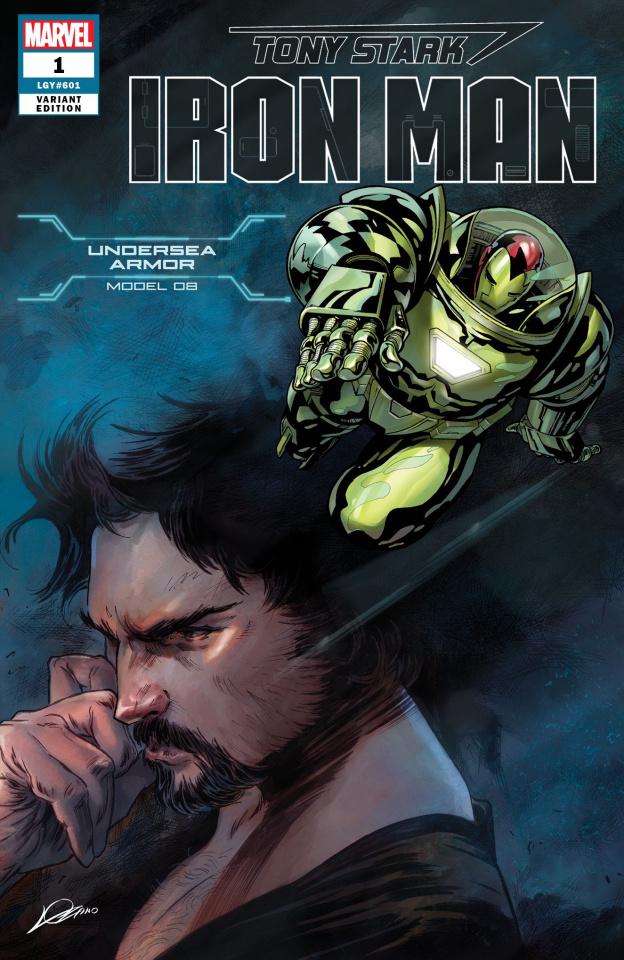 Tony Stark: Iron Man #1 (Undersea Armor Cover)