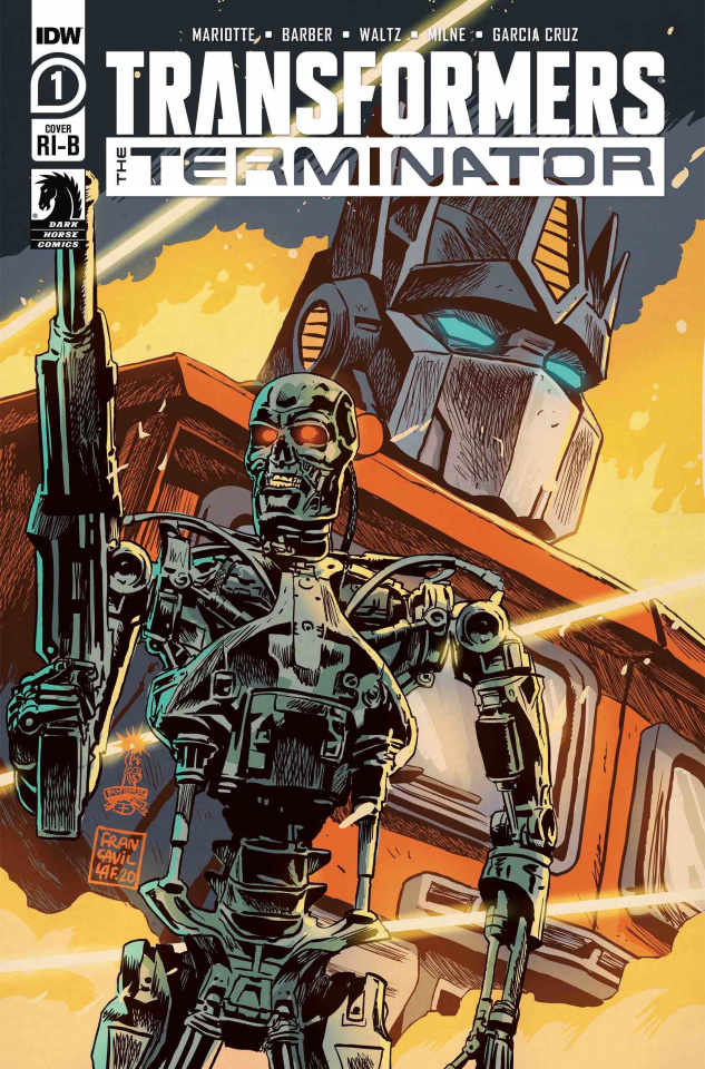 The Transformers vs. The Terminator #1 (25 Copy Cover)