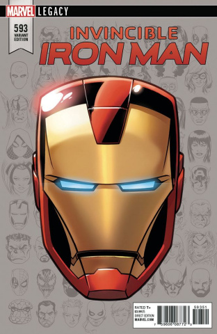 Invincible Iron Man #593 (Legacy Headshot Cover)