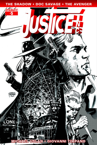 Justice, Inc. #5 (10 Copy Hardman B&W Cover)