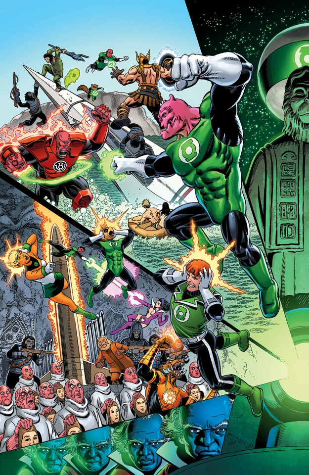 The Planet of the Apes / The Green Lantern #2 (Perez / Ordway Cover)