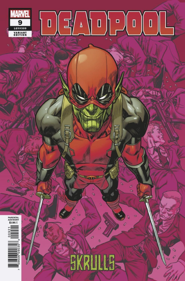 Deadpool #9 (Hawthorne Skrulls Cover)