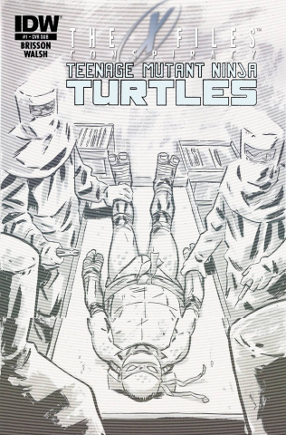 The X-Files Conspiracy: Teenage Mutant Ninja Turtles #1 (Subscription Cover)