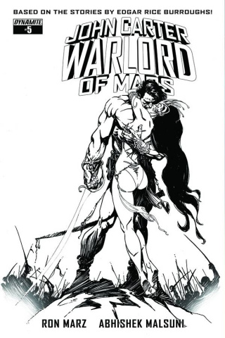 John Carter: Warlord of Mars #5 (10 Copy Sears B&W Cover)