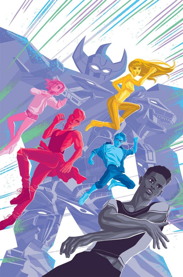 Mighty Morphin' Power Rangers 2017 Annual #1 (25 Copy Caltsoudas Cover)