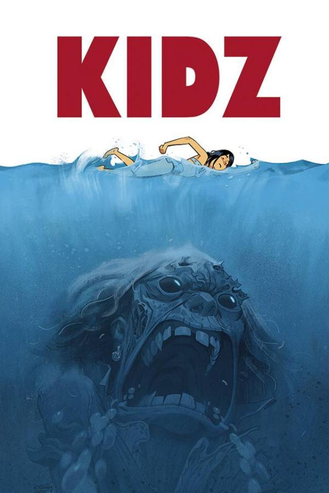 Kidz #4 (Joret Jaws Parody Cover)