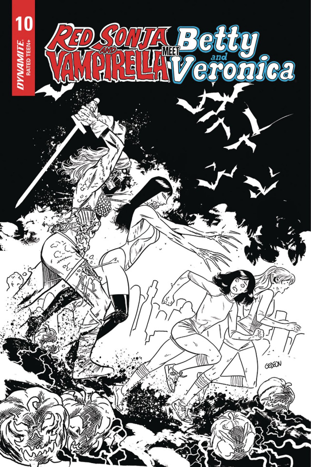 Red Sonja and Vampirella Meet Betty and Veronica #10 (15 Copy Gedeon B&W Cover)
