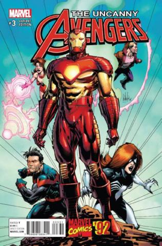 Uncanny Avengers #3 (Portacio Marvel '92 Cover)