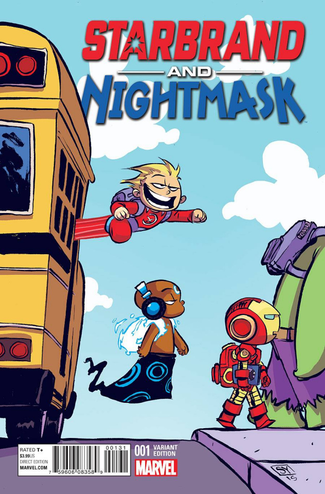 Starbrand and Nightmask #1 (Young Cover)