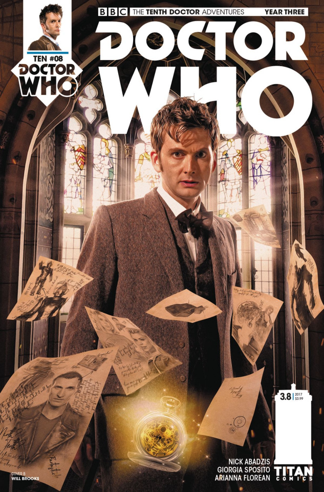 Doctor Who: New Adventures with the Tenth Doctor, Year Three #8 (Brooks Cover)