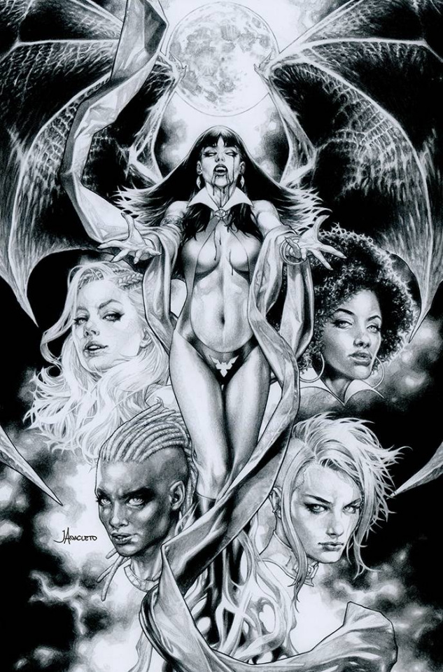Sacred Six #9 (35 Copy Anacleto B&W Virgin Cover)