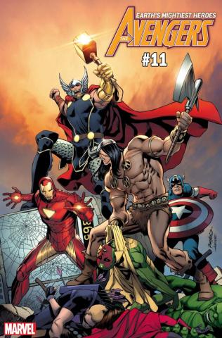 Avengers #11 (Pacheco Conan vs. Marvel Cover)