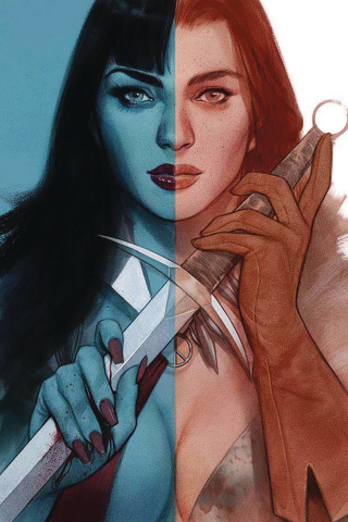 Vampirella / Red Sonja #5 (Oliver Virgin Cover)