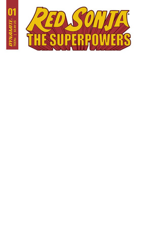Red Sonja: The Superpowers #1 (Blank Authentix Cover)