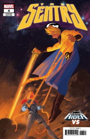 The Sentry #4 (Del Rey Cosmic Ghost Rider Cover)