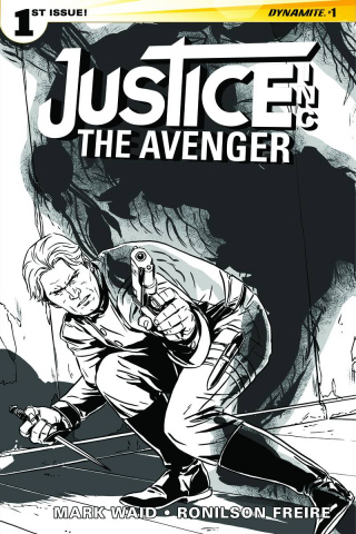 Justice Inc.: The Avenger #1 (20 Copy Laming B&W Cover)